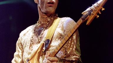 Prince performs at London's Wembley Arena in 1995.
