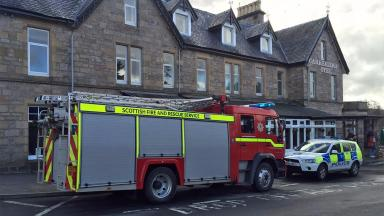 Gas leak: Guests evacuated from Carrbridge Hotel.
