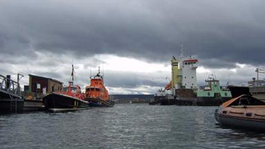 Invergordon harbour: Circumstances of the fatal incident are unclear (file pic).