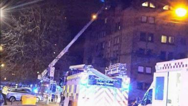 Blaze: Fire crews worked through the night to extinguish the flames.
