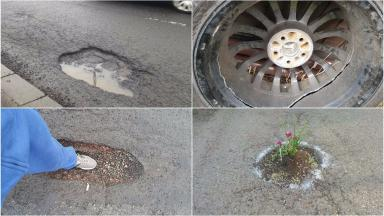 Problematic potholes: You share your experiences on social media.