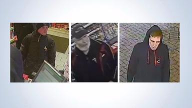 Appeal: Police are looking to speak to these three men.
