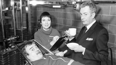 Barry Howard (right) with his Hi-de-Hi! co-stars Paul Shane and Ruth Madoc.