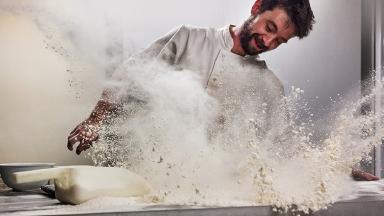 Flour Frenzy: Mark Benham's playful image won him the Pink Lady Food Photographer of the Year  award.