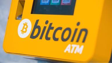 A file photograph of a Bitcoin ATM