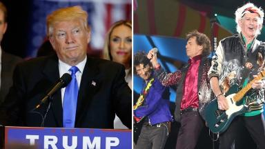 Music by the Rolling Stones has been played at Donald Trump events.