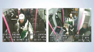 Appeal: Police are looking for two men captured on CCTV.