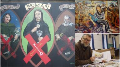 Princes Street mural: Over 200 pieces of public art have been displayed at the famous spot.