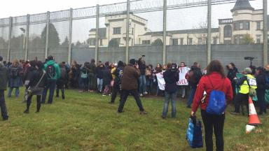 Protest: Organisers said 400 attended.