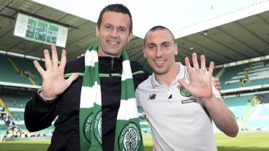 Streak: Celtic clinched their fifth successive title.