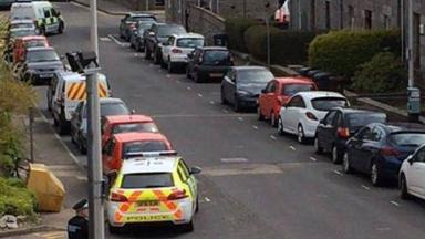 Aberdeen: Claremont Place was closed off on Saturday.