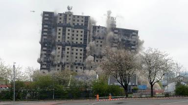 Glasgow flats demolished