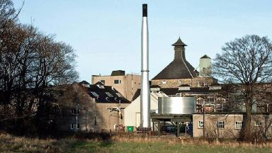 Longmorn Distillery: Firefighters wearing gas-tight suits entered the building (file pic).