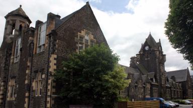 Vandals: The Stirling Highland Hotel was targeted.