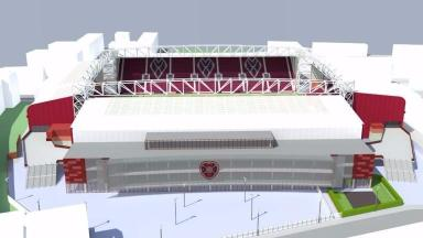 Artist's impression: How Tynecastle will look with the new main stand.