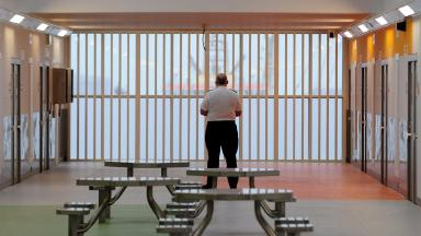 Inside of HMP Grampian jail in Peterhead, Aberdeenshire. Uploaded from SWNS