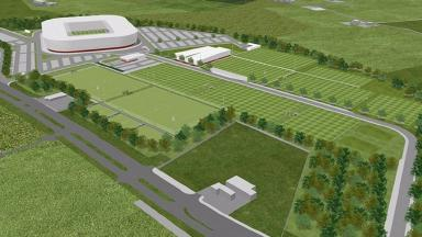 Complex: The new £40m stadium will include a football academy.