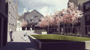 Vision: The proposed courtyard off King's Stables Road.