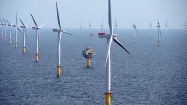 Sheringham Shoal wind farm, similar to Peterhead floating wind farm from Statoil