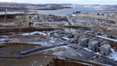 Shetland Gas Plant, taken from drone footage paid for by STV broadcast