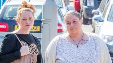 Convicted: Liam's mother Rachel Trelfa, left, and partner Nyomi Fee.