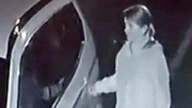 Hazel Innes: Caught in the act after woman set up a CCTV camera outside her home.