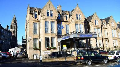 Body: The man was found dead on the corner of Bruntsfield Place and Leamington Terrace in Edinburgh.