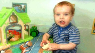 Victim: Liam Fee playing at nursery.