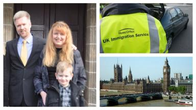 Immigration: The Brain family gave evidence.