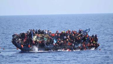 Five migrants died when overcrowded boat capsized off the coast of Libya on Wednesday.