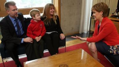 Brains: The family met Nicola Sturgeon on Thursday.