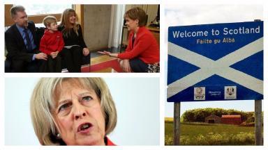 Deportation: Nicola Sturgeon wrote to Theresa May.