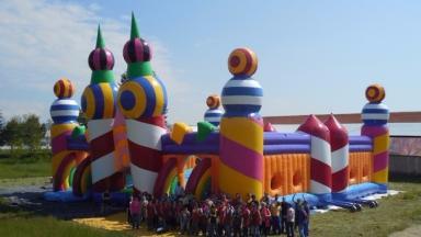 Bouncy: Castle created for festival.