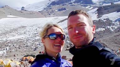 Robert Gropel and his wife Maria Strydom during their Everest trip
