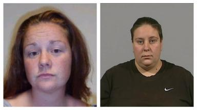 Separated: Rachel Trelfa, left, was moved to a different prison from Nyomi Fee.