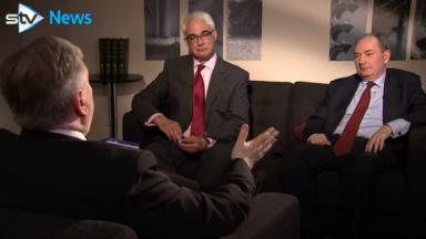 Big beasts: Darling and Forsyth discuss the pros and cons of the EU.