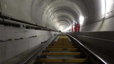 The Gotthard Base Tunnel is 57.1 km (35.3 miles) long.