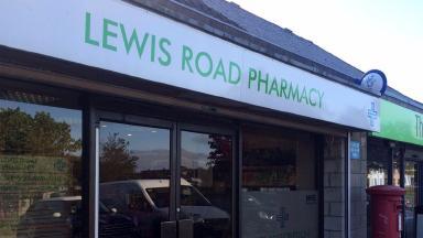 Pharmacy: Armed robbery on Lewis Road in Aberdeen.
