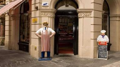 Statue: Butcher's told its dummy causes an obstruction.