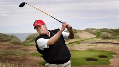 Donald Trump at the Trump International Golf Links in Aberdeen