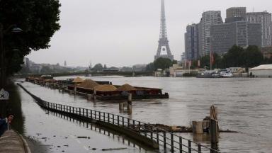 The swollen Seine burst its banks in Paris.