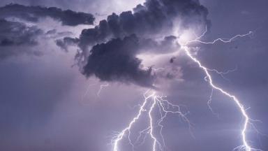 An archive photo of a lightning strike.
