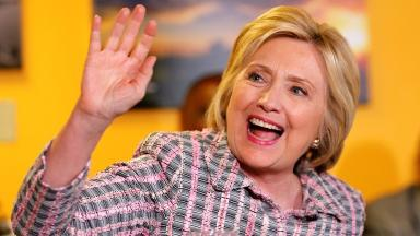 Ms Clinton hopes to soon be named the Democratic presidential candidate