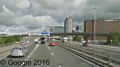 Kingston Bridge: Crash sparked major delays in Glasgow.