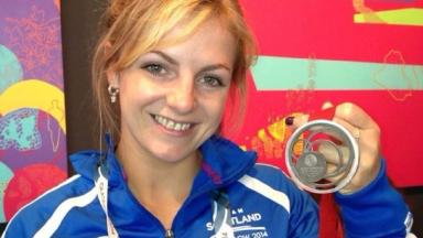 Judo star: Stephanie Inglis after winning her Commonwealth silver medal.