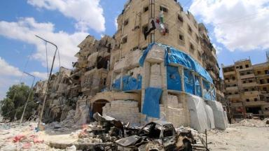 Al-Quds hospital in Aleppo was hit by airstrikes in April