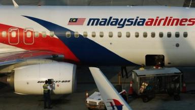 A Malaysian Airlines Boeing 777.