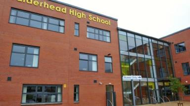 Bomb hoaxes: Calderhead High in Shotts was among those evacuated.