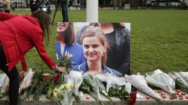 Tributes: MPs and members of the public have laid flowers in her honour at Parliament Square.
