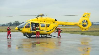 Air Ambulance: Crash victim was flown to hospital in Aberdeen.